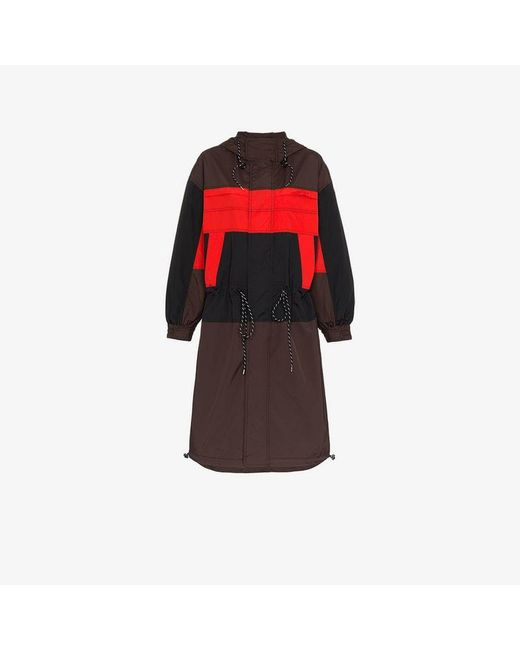 Ganni - Black Faust Hooded Shell Jacket - Lyst