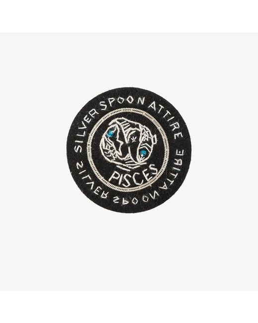 Silver Spoon Attire | Black Pisces Star Sign Badge | Lyst