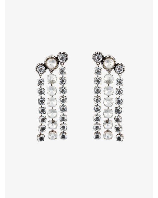 Lanvin | Black Beaded Earrings | Lyst
