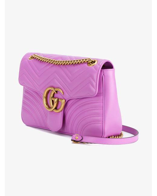 9c138688d5a Gucci GG Marmont Matelassé Leather Mini Shoulder Bag in Pink - Save 22%