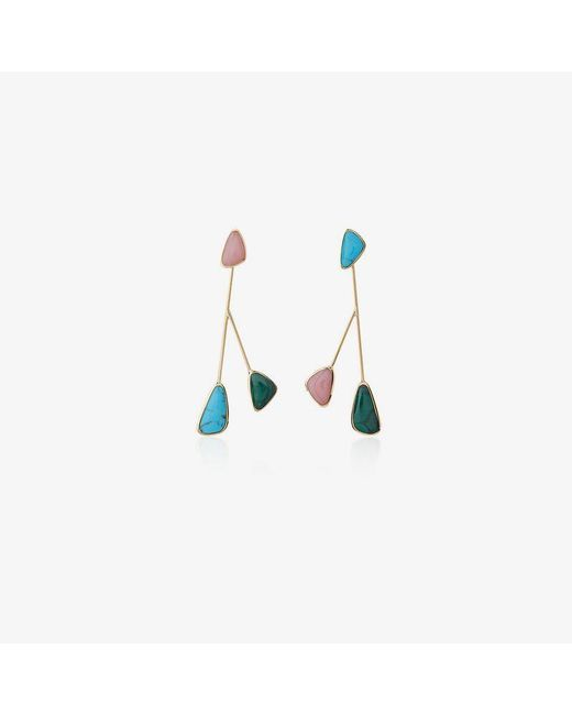 Pamela Love - Multicolor Pillar Inlay Satellite Earrings - Lyst