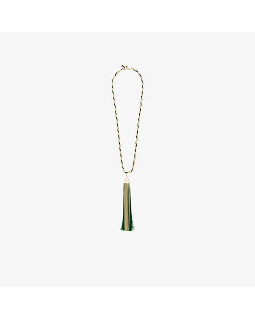 Rosantica | Metallic Corda Necklace With Oversized Tassle Pendant | Lyst