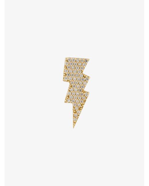 Anton Heunis - Metallic Gold And Diamond Lightning Bolt Earring - Lyst