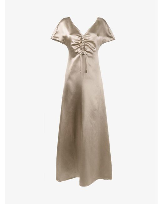 Barbara Casasola - Natural Gathered Chest Gown - Lyst