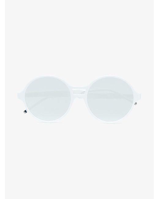5e7b7bfc9 ... Thom Browne - White Round Frame Mirror Sunglasses for Men - Lyst ...