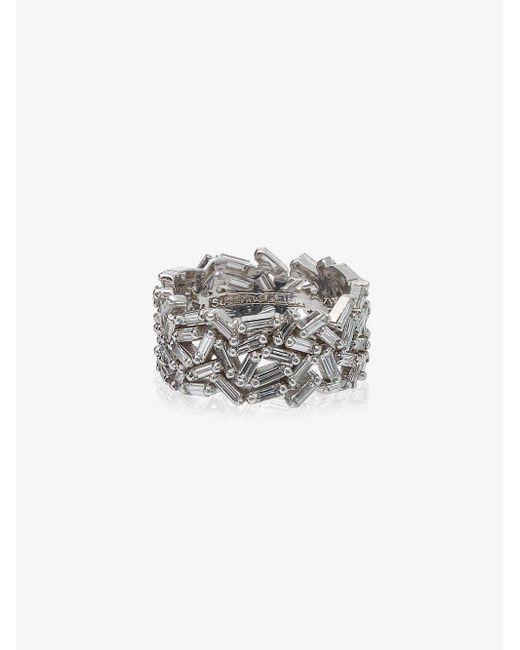 Suzanne Kalan - 18k White Gold And Diamond Medium Sparkler Eternity Band - Lyst