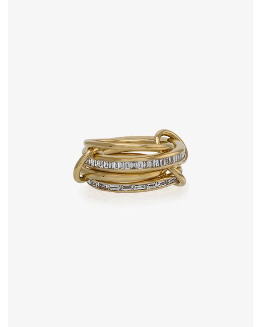 Spinelli Kilcollin - Metallic 18k Yellow Gold Lehmus Diamond Ring - Lyst