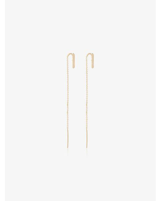 Lizzie Mandler - Metallic 18k Gold Thread Drop Earrings - Lyst