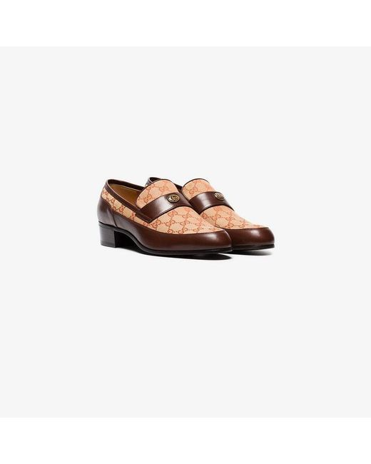 a6cc69289aa Lyst - Gucci Brown Original Gg Leather Loafers in Brown for Men