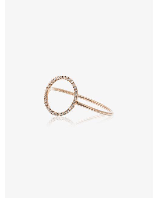 Rosa De La Cruz diamond lip shaped ring - Metallic aYkl3DfblK