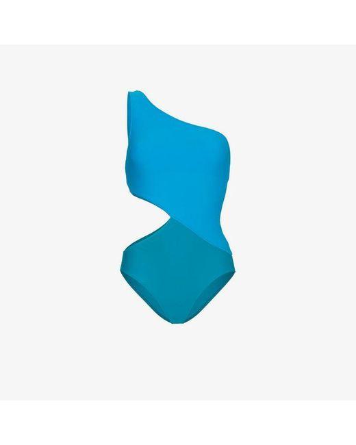 Araks - Blue Elmar One Shoulder Cutout Swimsuit - Lyst