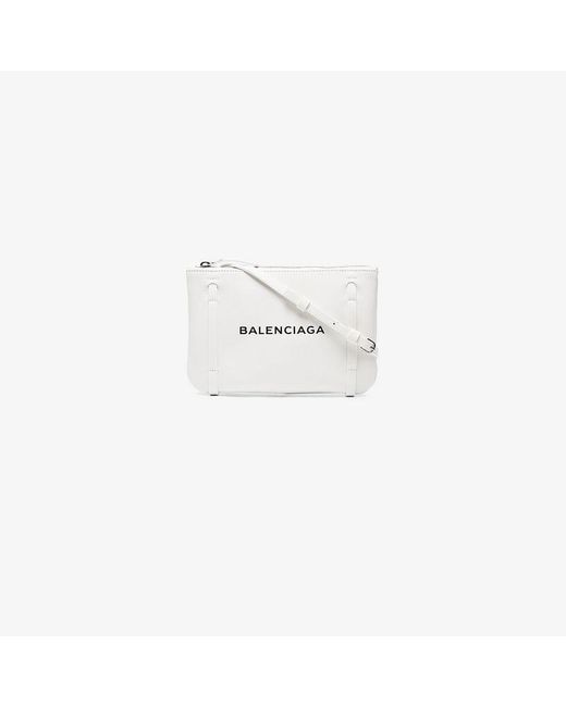 Balenciaga - White Everyday Leather Clutch Pouch - Lyst