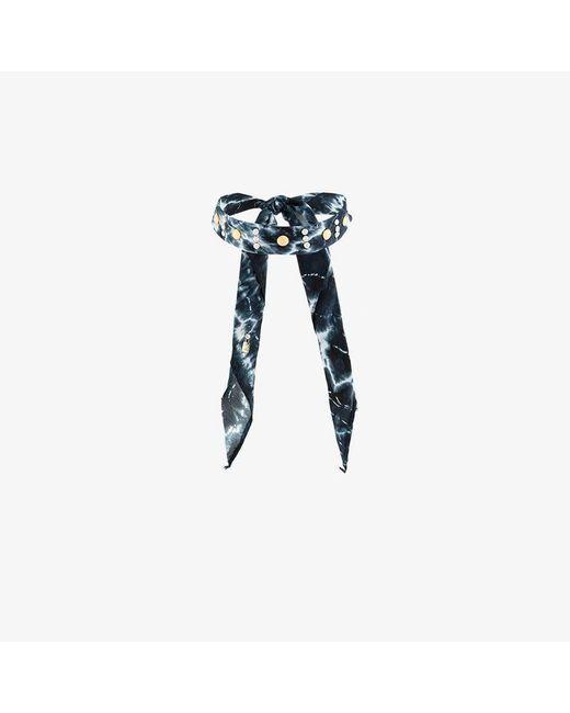 DANNIJO - Black Moonza Tie Dye Bandana Choker - Lyst