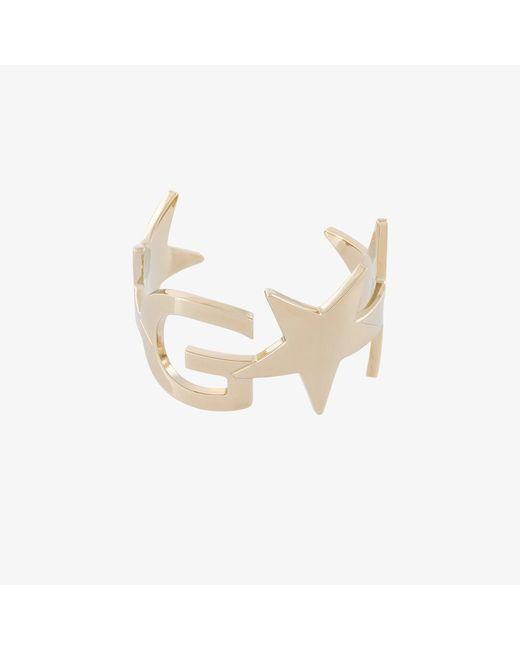Givenchy | Metallic Logo And Star Cuff | Lyst