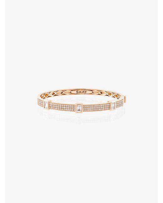 Shay half diamond single line bangle - Metallic GPFTn2Pq