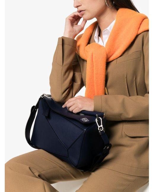 4523977284d2 Lyst - Loewe Navy Blue Puzzle Medium Leather Shoulder Bag in Blue ...