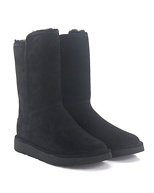 Ugg - Ankle Boots Abree Short 2 Suede Black Lamb Fur - Lyst
