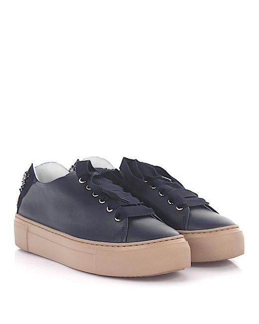 AGL ATTILIO GIUSTI LEOMBRUNI Sneakers D925095 Plateau leather rosè shiny 9cmvUabL