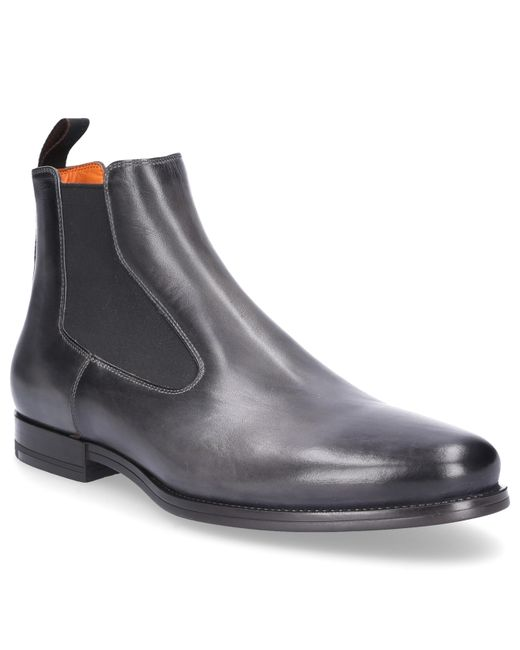 Santoni - Gray Chelsea Boots 15307 Smooth Leather Grey for Men - Lyst