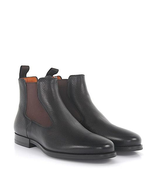 santoni Ankle Boots Double Monk 15714 Budapester nappa leather leather finished sWFBNQR