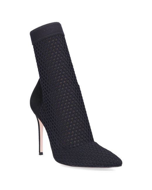 Gianvito Rossi - Ankle Boots Vox Nylon Suede Black - Lyst