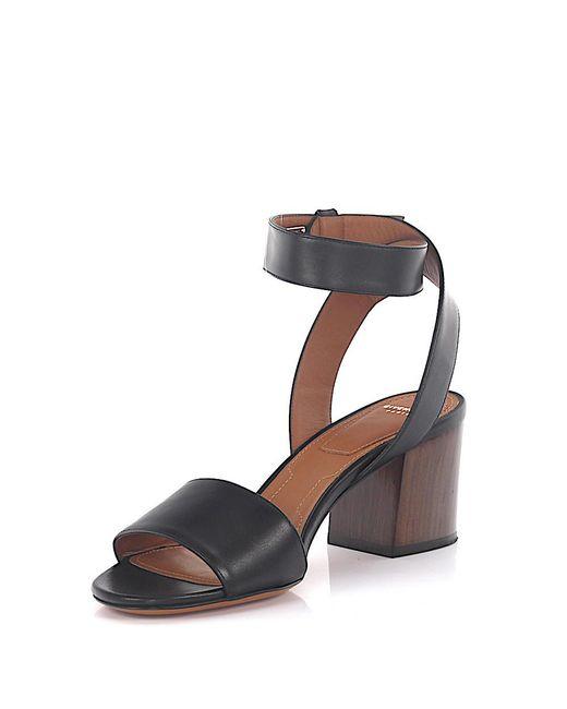 Givenchy | Sandals 6 Paris Ankle Strap Leather Black | Lyst