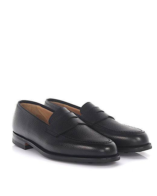 Crockett and Jones - Slipper Boston Leather Black for Men - Lyst