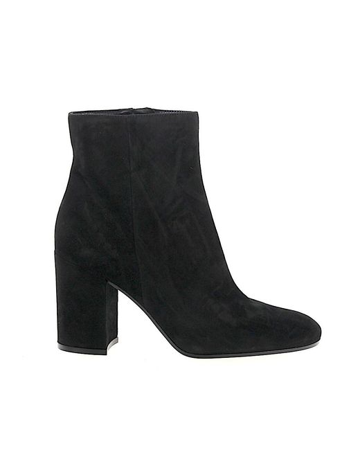 Gianvito Rossi - Black Ankle Boots Rolling 85 - Lyst