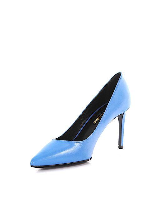 Saint Laurent | Pumps Paris Leather Blue | Lyst