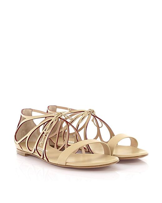 Casadei - Natural Sandals Evening Leather Nude - Lyst