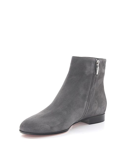 gianvito ankle boots milton flat bootie suede grey