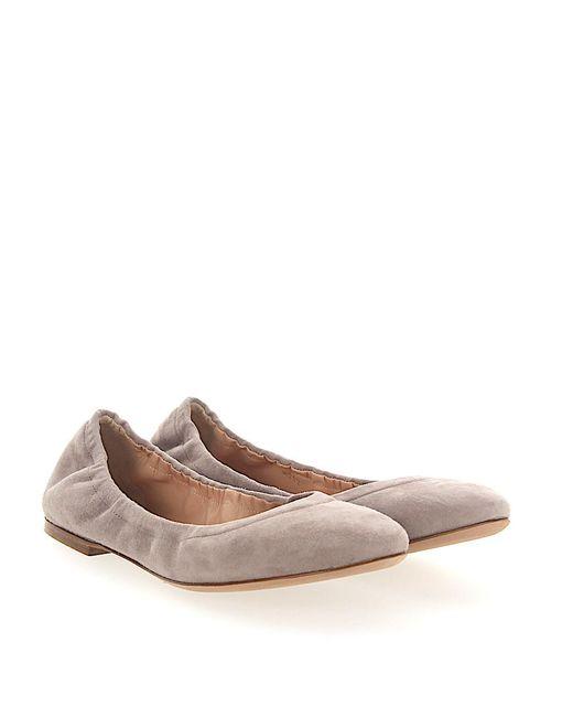 Unützer - Gray Ballerinas Foldable 8292 Suede Light Grey - Lyst