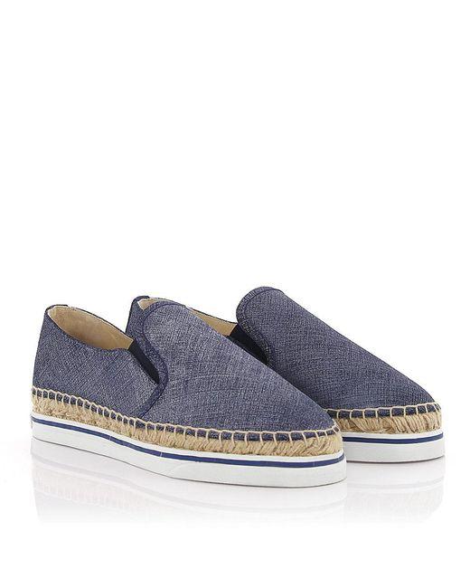 Jimmy Choo - Espadrilles Slip-on Sneakers Dawn Denim Leather Blue - Lyst