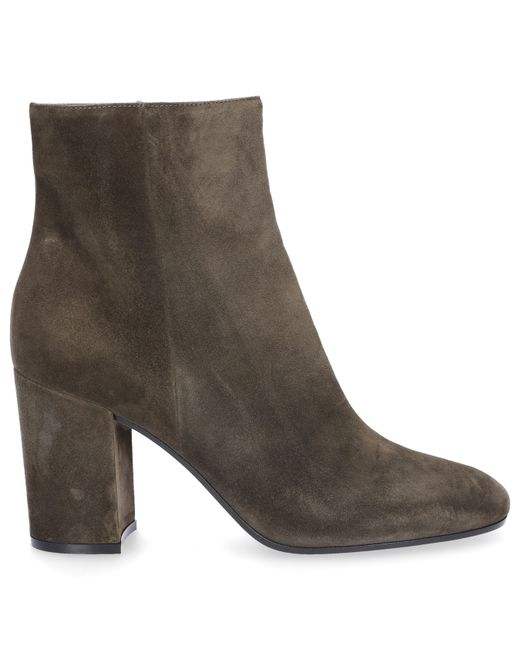 Gianvito Rossi - Green Ankle Boots Rolling 85 Suede Olive - Lyst