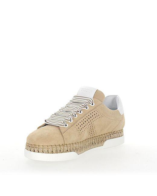 Beige Plateau Veloursleder Tod's Sneaker Espadrilles Lyst A0y550 PTiXuwkOZl