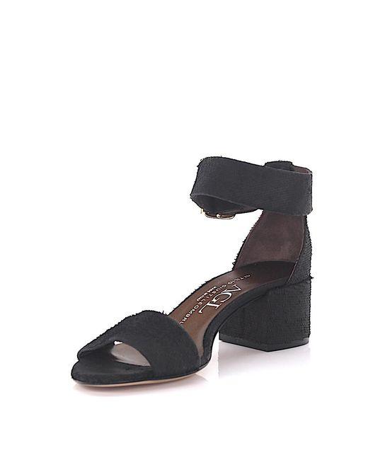 Agl Attilio Giusti Leombruni | Agl Sandals D63101 Ankle Strap Leather Black Finished | Lyst