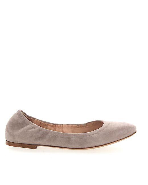 Unützer - Gray Classic Ballet Flats Calfskin Suede Light Grey - Lyst