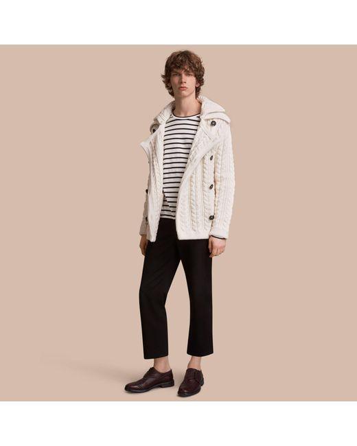 Burberry | Multicolor Aran Knit Technical Cotton Jacket | for Men | Lyst