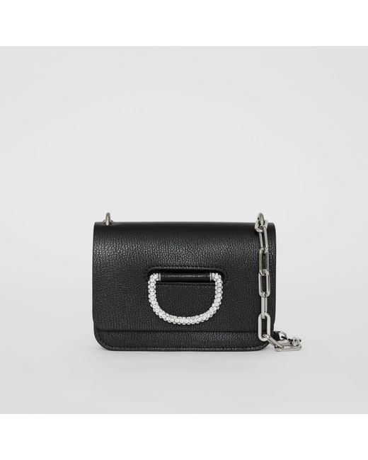0ae0fbf6f0fa Burberry - Black The Mini Leather Crystal D-ring Bag - Lyst ...