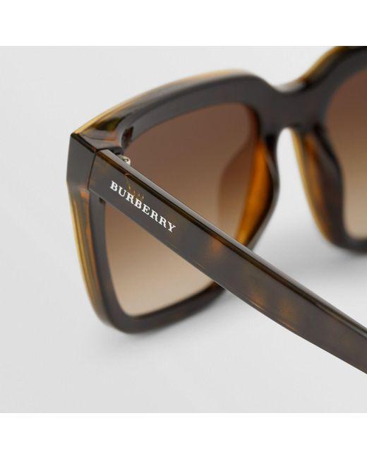 f5858ba2cc1 ... Burberry - Multicolor Square Frame Shield Sunglasses - Lyst ...
