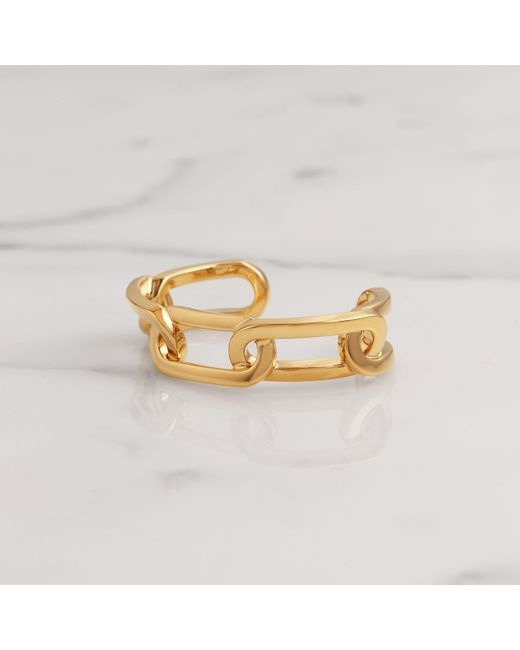 Burberry - Metallic Gold-plated Link Cuff - Lyst