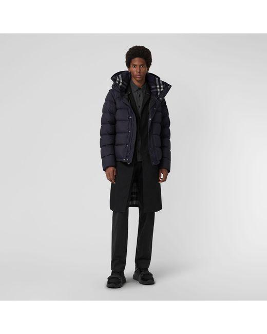 fe8762eab925d Burberry - Blue Detachable-sleeve Down-filled Hooded Puffer Jacket for Men  - Lyst ...