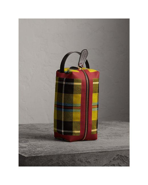 Burberry - Multicolor Tartan Cotton Pouch for Men - Lyst
