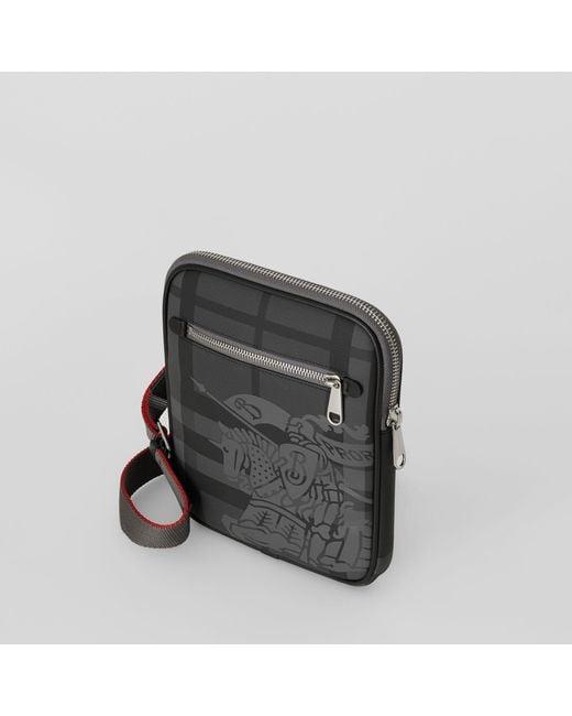 ... Burberry - Black Slim Ekd London Check Crossbody Bag for Men - Lyst ... 6c4320cee6261