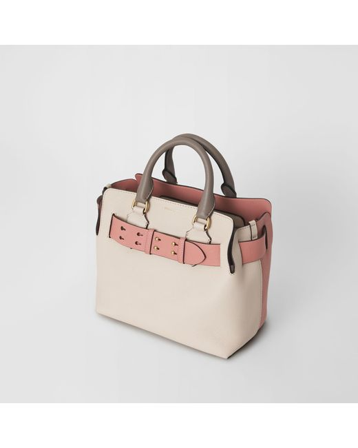 681a44fa016 ... Burberry - Multicolor The Small Tri-tone Leather Belt Bag - Lyst ...