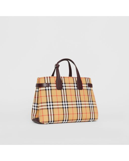 Burberry - Multicolor The Medium Banner In Vintage Check And Leather - Lyst  ... 1024b31a1e