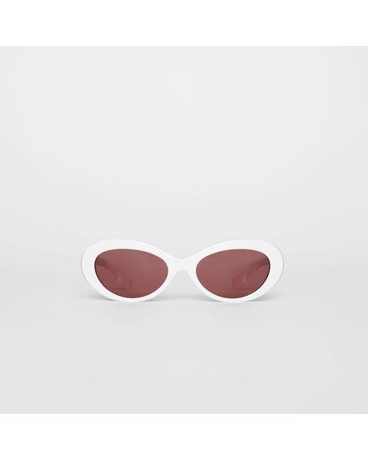 250cf13782e1 Burberry - White Cat-eye Frame Sunglasses - Lyst ...