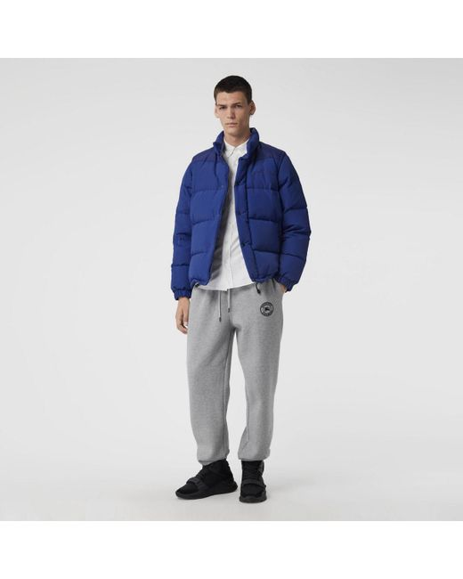 8af275cdb83a Burberry - Blue Detachable-sleeve Down-filled Puffer Jacket for Men - Lyst  ...
