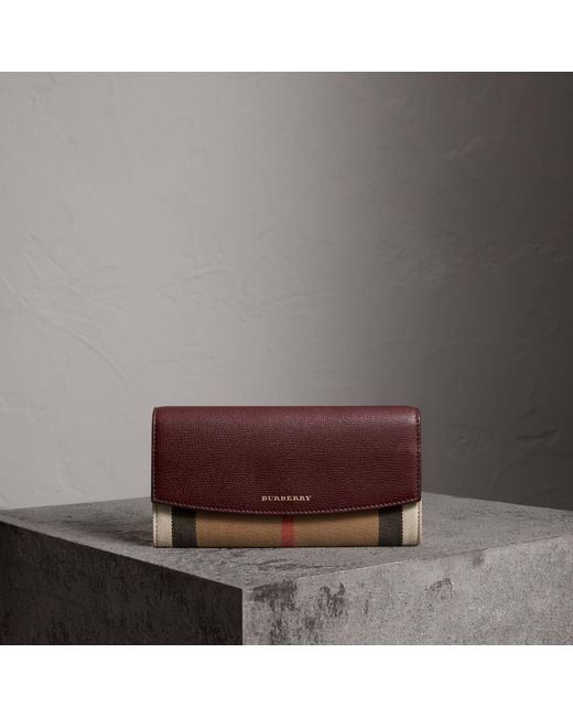 Burberry - Brown 'porter' Continental Wallet - Lyst