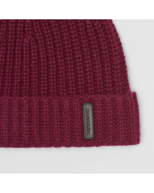 3902587cfd7 ... Burberry - Multicolor Rib Knit Cashmere Beanie for Men - Lyst ...